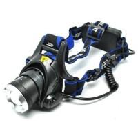 Senter kepala / lampu kepala headlamp high power LED cree ZOOM IN -OUT