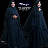 Gamis syari lyra virna collection khadeja navy