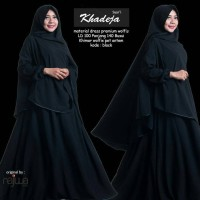 Gamis syari lyra virna collection khadeja black