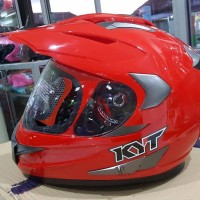 KYT ENDURO SOLID RED MAROON Helm Full Face
