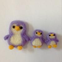 Magnet Kulkas Penguin 3 pcs Benang Felt / Souvenir Flanel