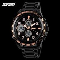 Jam Tangan Analog Digital Pria SKMEI 1021 Original Stainless - Black
