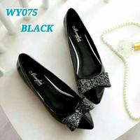 | CANTIK | Sepatu Wanita Flat Shoes Pita Gliter SDB79 A122