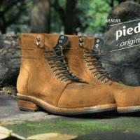 sepatu handmade original gragas boots local brand piedestore premium