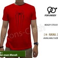 kaos distro Spiderman home coming merah tshirt avenger baju movie film