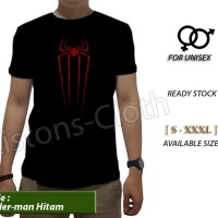 kaos distro Spiderman home coming hitam tshirt avenger baju movie film