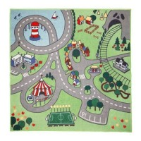 Karpet anak, Motif jalan raya, kota, sirkus, STADSDEL130x133 cm
