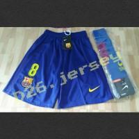Celana bola + Kaos Kaki Barcelona home 17/18 OFFICIAL + Cetak nomor