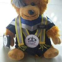 Boneka wisuda monkay uk 40cm / monkey custom toga universitas