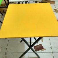 meja lipat ready stock ukuran 60x60 meja cafe bazar meja cafe murah
