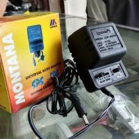 Adaptor 1,5 - 12 Volt Montana 500mA Charger Senter Swat