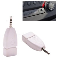 Male 3.5mm Aux Audio Plug Jack To USB 2.0 Female Converter Adapter