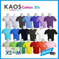 Kaos Polos Super Cotton 20s Unisex Ukuran Kecil [XS~M]