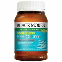 baru Blackmores Odourless Fish Oil 1000mg 200 kapsul