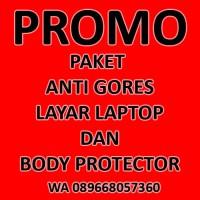 PROMO PAKET ANTI GORES LAYAR LAPTOP & BODY PROTECTOR