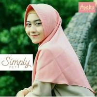 jilbab instan polos/hijab instan polos SImply Pet