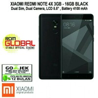 Xiaomi Redmi Note 4X 3/16GB Black Garansi 1THN