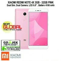 Xiaomi Redmi Note 4X 3/32GB Pink Garansi 1THN