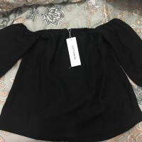 cottonink blouse sabrina hitam