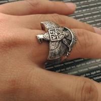 Garuda Pancasila stainless steel 316L skull ring / cincin tengkorak