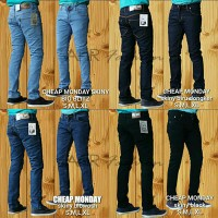 "Celana Jeans Pensil Cheap Monday"" BioBlitz/BioWash/BiruDongker/Hitam"
