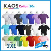 Kaos Polos Super Cotton 20s Unisex Ukuran JUMBO XXXL [3XL]
