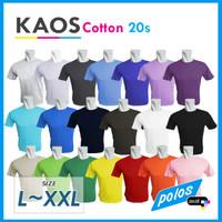 Kaos Polos Super Cotton 20s Unisex Ukuran Besar [L~XXL]