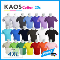 Kaos Polos Super Cotton 20s Unisex Ukuran JUMBO / BIG SIZE XXXXL [4XL]