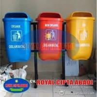 Harga Tempat Sampah Fiberglass / Tempat Sampah Organik non Organik, B3