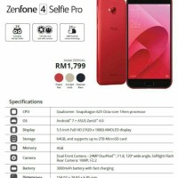 smartphone zenfone 4selfie pro *miliki barang impian anda