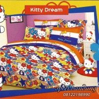 NEW Sprei BedCover set CVC Katun Premium Quality Kid Motif Hello Kitty