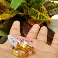 Cincin Couple Gold Cincin Titanium Gold Cincin Tunangan Cincin Kawin