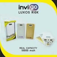 Powerbank Merk INVIGO LUXOS R10K 10000 Mah REAL CAPACITY ORIGINAL