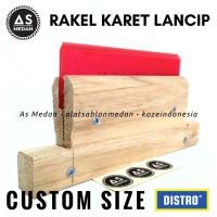 Rakel Kayu Karet Lancip Alat Sablon Manual Cetak Sablon Kaos Plastik