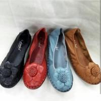 Sepatu Kerja Wanita Clarks Sun Flower Flat Terlaris