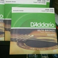 senar gitar akustik 09 D'Addario Bronze ez890 new cover packing