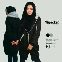 Jaket distro Hijabers Murah black list grey