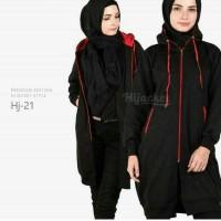 Jaket murah hijabers distro turkis Black red
