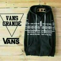 Jaket Distro murah Zipper Vans Grande Black