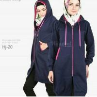Jaket murah hijabers distro black list pink