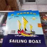Carbon Paper Sailing Boat / Kertas Karbon Hitam