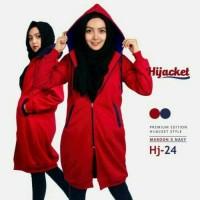 Jaket Distro Hijabers Red list black
