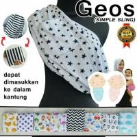 Gendongan Kaos Motif / Geos Karakter Premium /Geos Bayi Motif Size L
