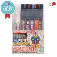 Gundam Marker Pour Type Set Extra Thin For Panel Line GMS122 Tools