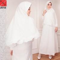 Baju Gamis Wanita / Gamis Putih / Muslim Wanita #8056 STD