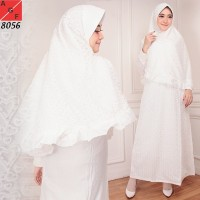 Baju Gamis Wanita / Gamis Jumbo / Muslim Putih #8056 JMB