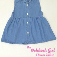 Dress BEST SELLER Flower Tunik Anak Jeans Premium