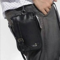 Tas Dompet slempang selempang pouch HP kulit PU (smartphone max 6inc)