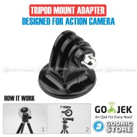 Action Cam Tripod Adapter Mount for SJ4000,SJ5000,M10 / GoPro AGP61000