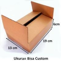 Kardus Box Handphone Gadget 19 x 13 x 6cm Single Wall Dus Baru Packing